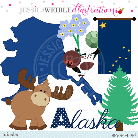 Clipart of alaska clip art stock Alaska Cute Digital Clipart for Invitations, Card Design ... clip art stock