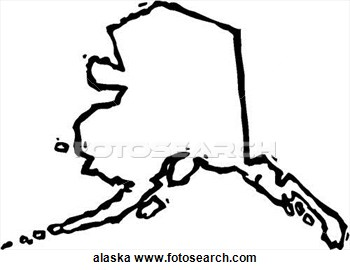 Clipart of alaska vector freeuse stock Alaska Map Clipart - Clipart Kid vector freeuse stock