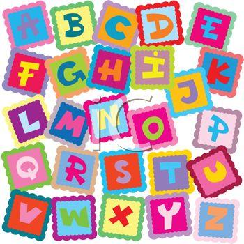Letter blocks clipartfest royalty. Clipart of alphabet letters