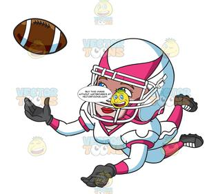 Woman playing football clipart jpg black and white library A Female Football Player Catching The Ball jpg black and white library