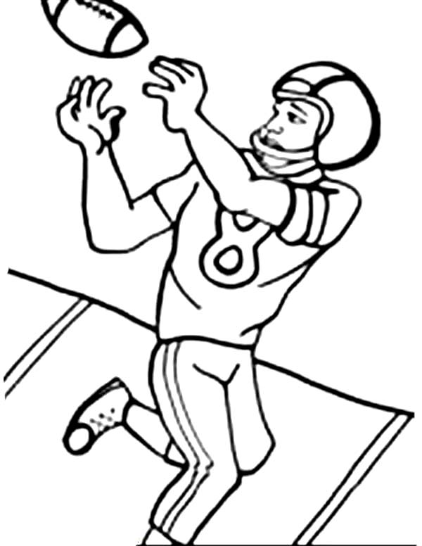 Images of football player catching ball clipart graphic library stock Free How To Draw A Football Player, Download Free Clip Art, Free ... graphic library stock