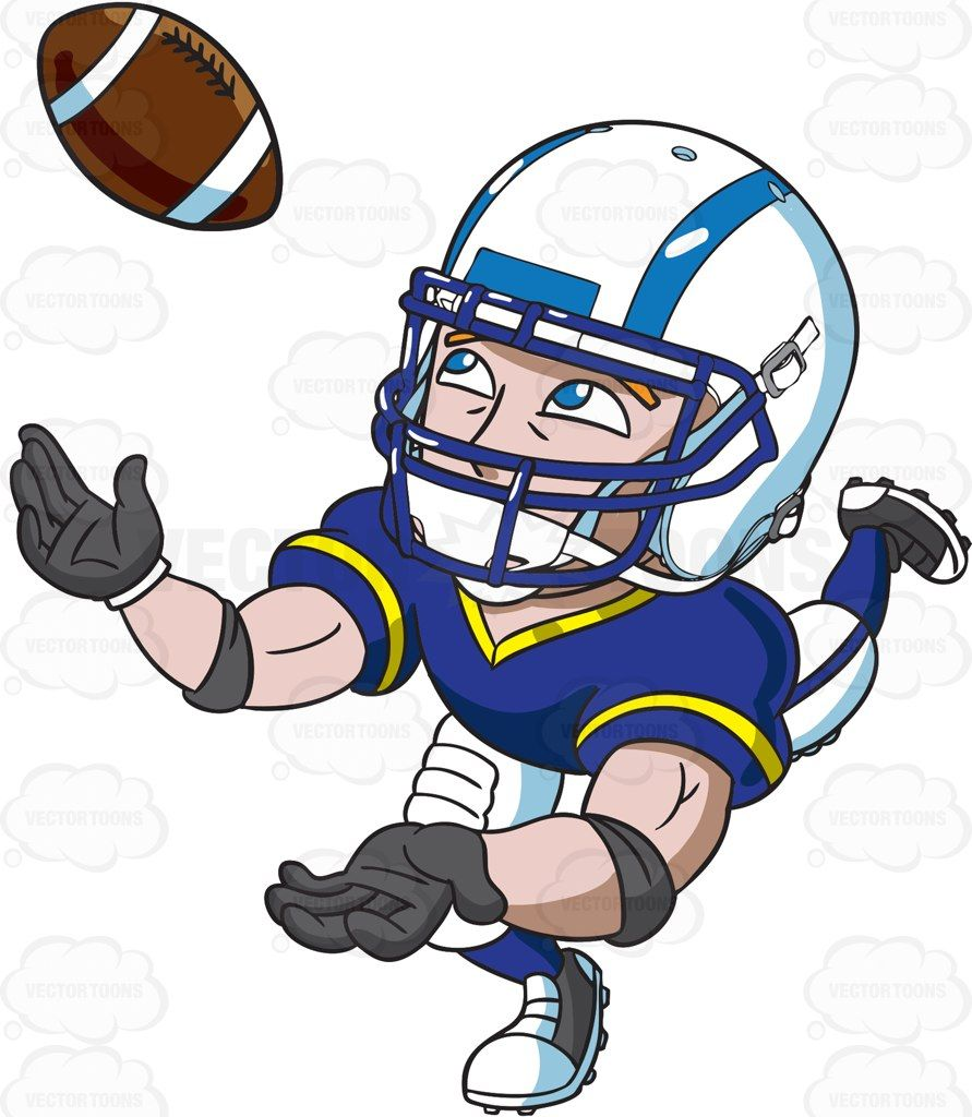 Images of football player catching ball clipart banner royalty free A football wide receiver catching the ball #cartoon #clipart #vector ... banner royalty free