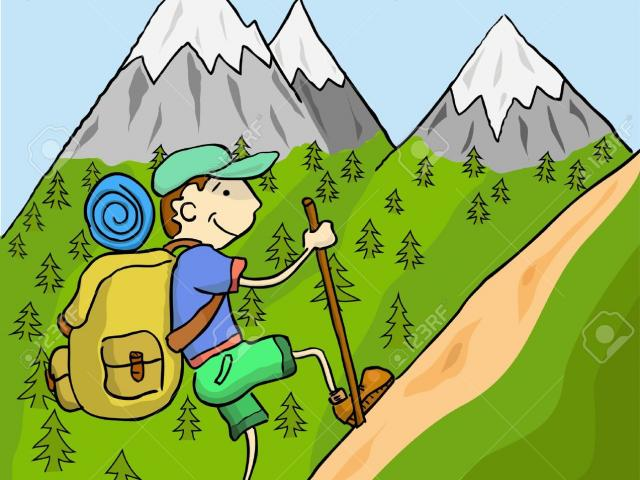Clipart of an adventurer going up a mountain vector transparent download Free Hiking Clipart, Download Free Clip Art on Owips.com vector transparent download