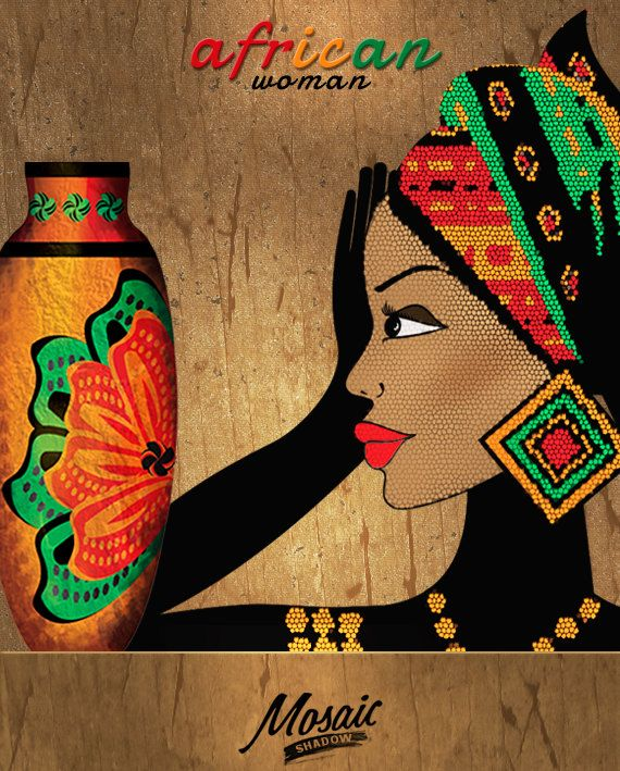 Clipart of an african woman wearing kentu cloth png freeuse library Happy Sales Everyone ! by crownhill on Etsy | Treasuries I\'m IN ... png freeuse library