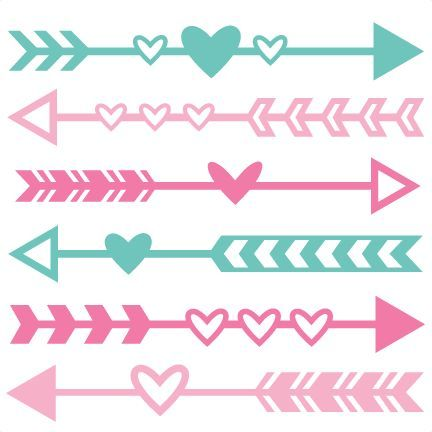 Clipart of an cute arrow jpg transparent stock Valentine Arrow Set SVG scrapbook cut file cute clipart files for ... jpg transparent stock