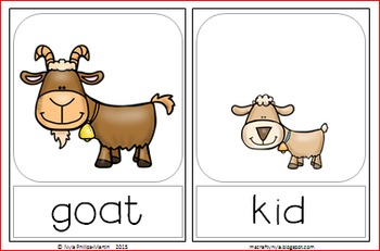 Clipart of animals and their young image freeuse download Animals and their Young - Memory Game image freeuse download