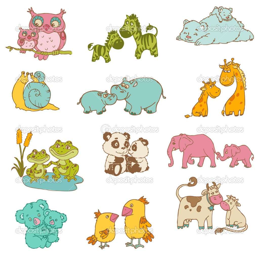 Clipart of animals and their young banner freeuse stock At Clipart Of Animals And Their Young Ones Clip Art Babies ... banner freeuse stock