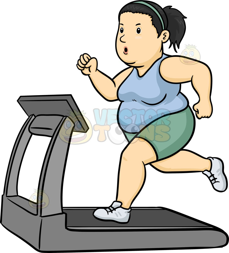 Clipart of animated black man working out png black and white Collection of Treadmill clipart | Free download best Treadmill ... png black and white