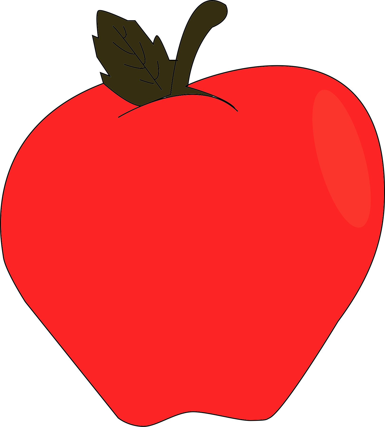 Clipart of apple dump cake svg royalty free download Drawing Apple by illustrator cc - Album on Imgur svg royalty free download