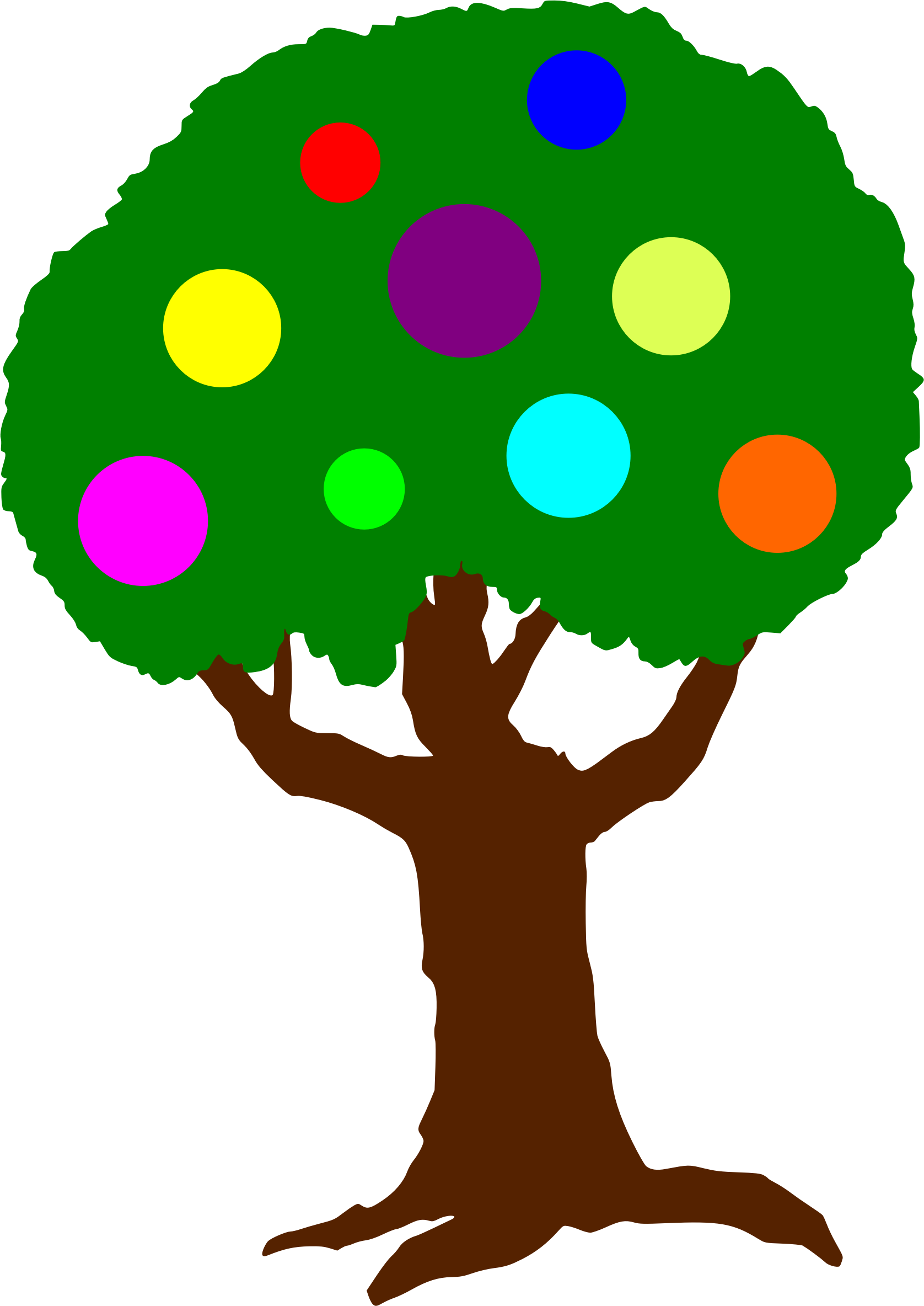 Clipart of apple trees clipart freeuse library Clipart - Fruit of the Spirit Tree clipart freeuse library