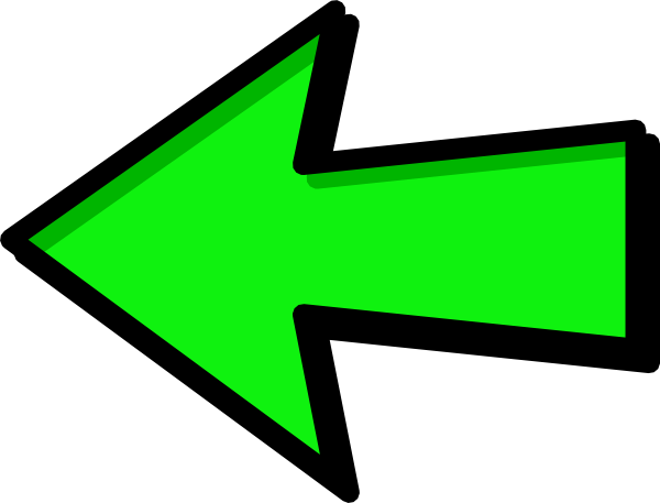 Clipart of arrow pointing left picture free library Green Arrow Left Clip Art at Clker.com - vector clip art online ... picture free library