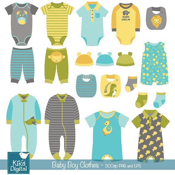 Clipart of baby clothes clip art transparent stock Boy Baby Clothes clip art baby clothing baby boy by DigiKika | DIY ... clip art transparent stock