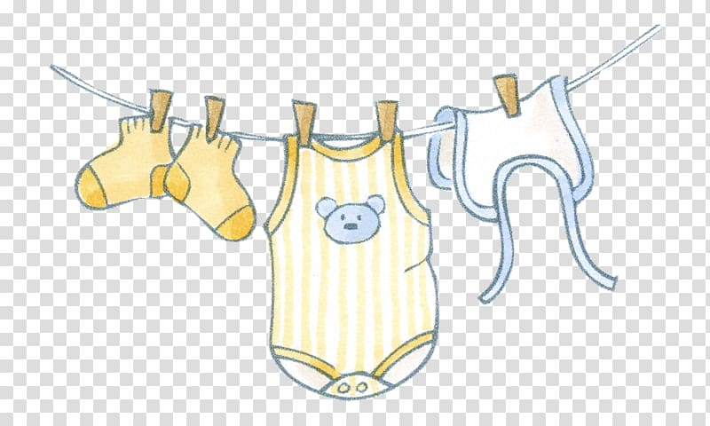 Clipart of baby clothes graphic royalty free stock Baby\'s clothes , Infant clothing , Hanging baby clothes transparent ... graphic royalty free stock