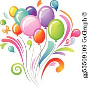 Clipart of balloons png library library Balloon Clip Art - Royalty Free - GoGraph png library library