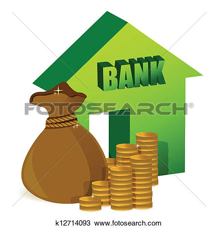 Clipart of bank graphic library stock Clipart of Bank with coins, money bag k12714093 - Search Clip Art ... graphic library stock