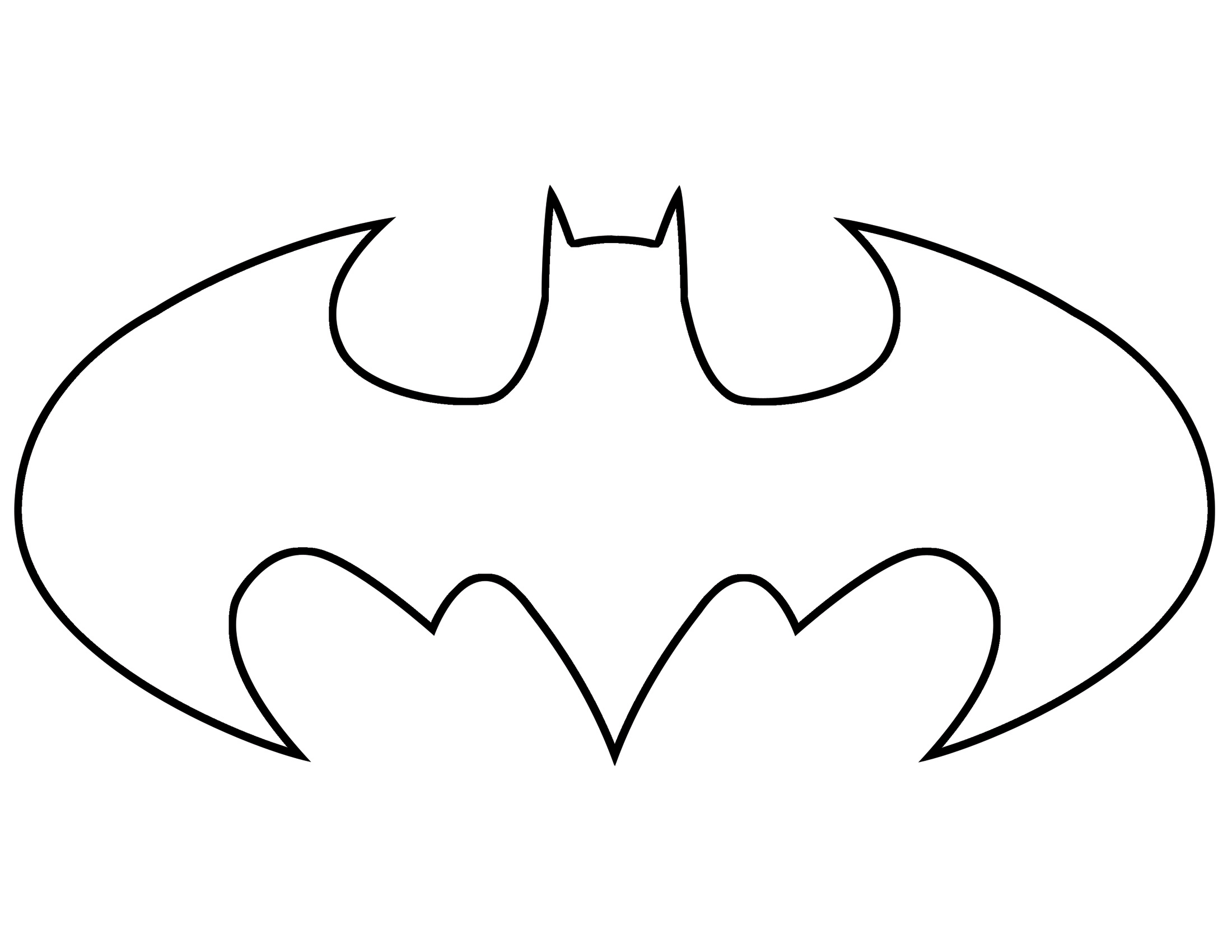 Clipart of batman logo graphic transparent download Batman clipart outline - ClipartFest graphic transparent download