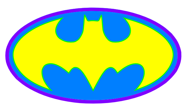Clipart of batman logo vector freeuse Batman Logo Clipart - Clipart Kid vector freeuse