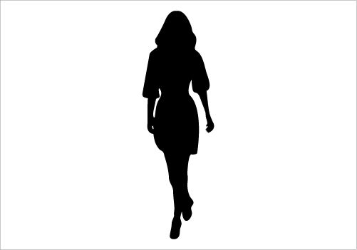 Clipart of beautiful black women walking graphic black and white Walking Women Silhouette Graphics Silhouette Graphics ... graphic black and white