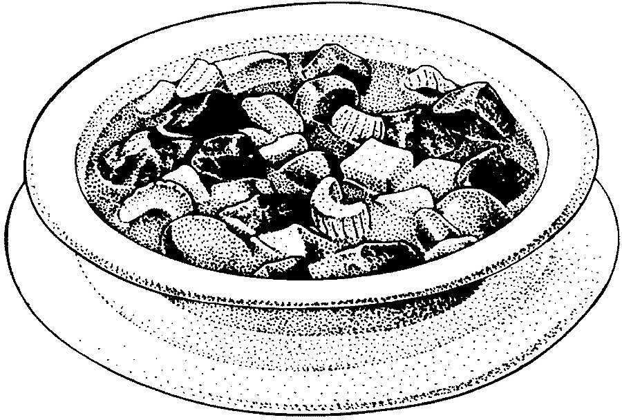 Clipart of beef stew black and white vector royalty free stock Stew – Beef | Frugal Abundance vector royalty free stock