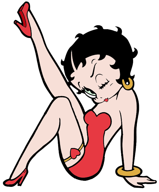Clipart of betty boop svg library library Betty Boop Clip Art   Cartoon Clip Art svg library library