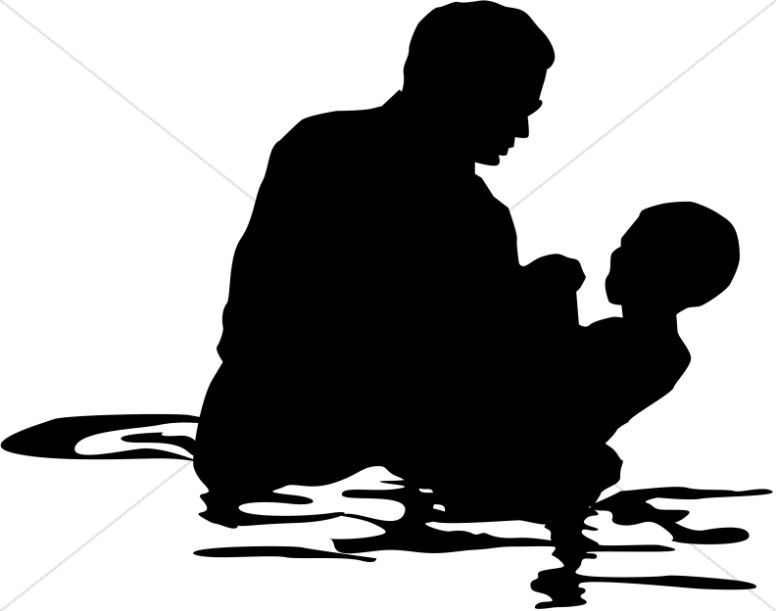 Clipart of black baptism jpg freeuse stock Full Immersion Baptism | Baptism Clipart jpg freeuse stock