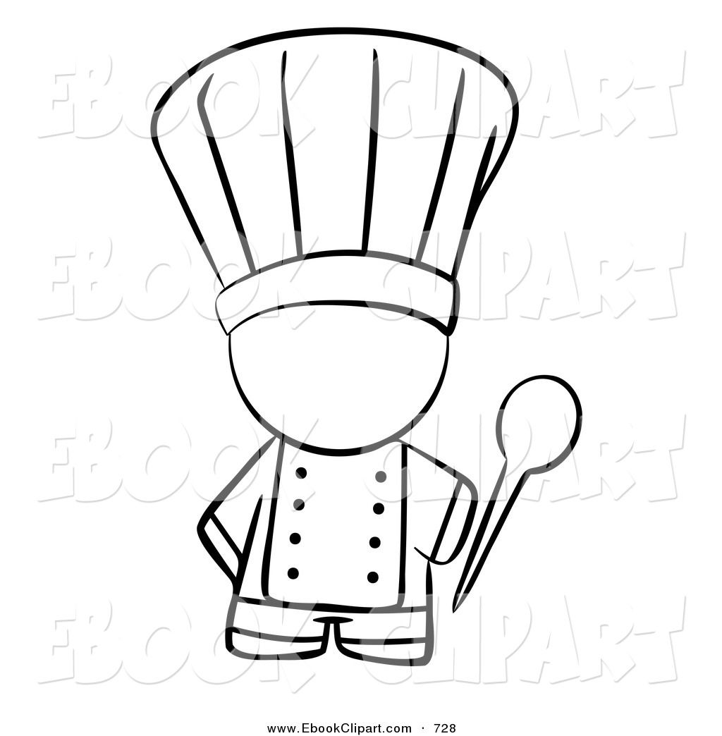 Clipart of black man with knife in back image library stock Images For > Cooking Clipart Black And White | PartyPartyParty ... image library stock
