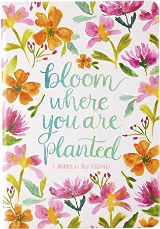 Clipart of bloom where you are planted image black and white Amazon.com : Eccolo Journal \'Bloom Where You are Planted\', Nature ... image black and white