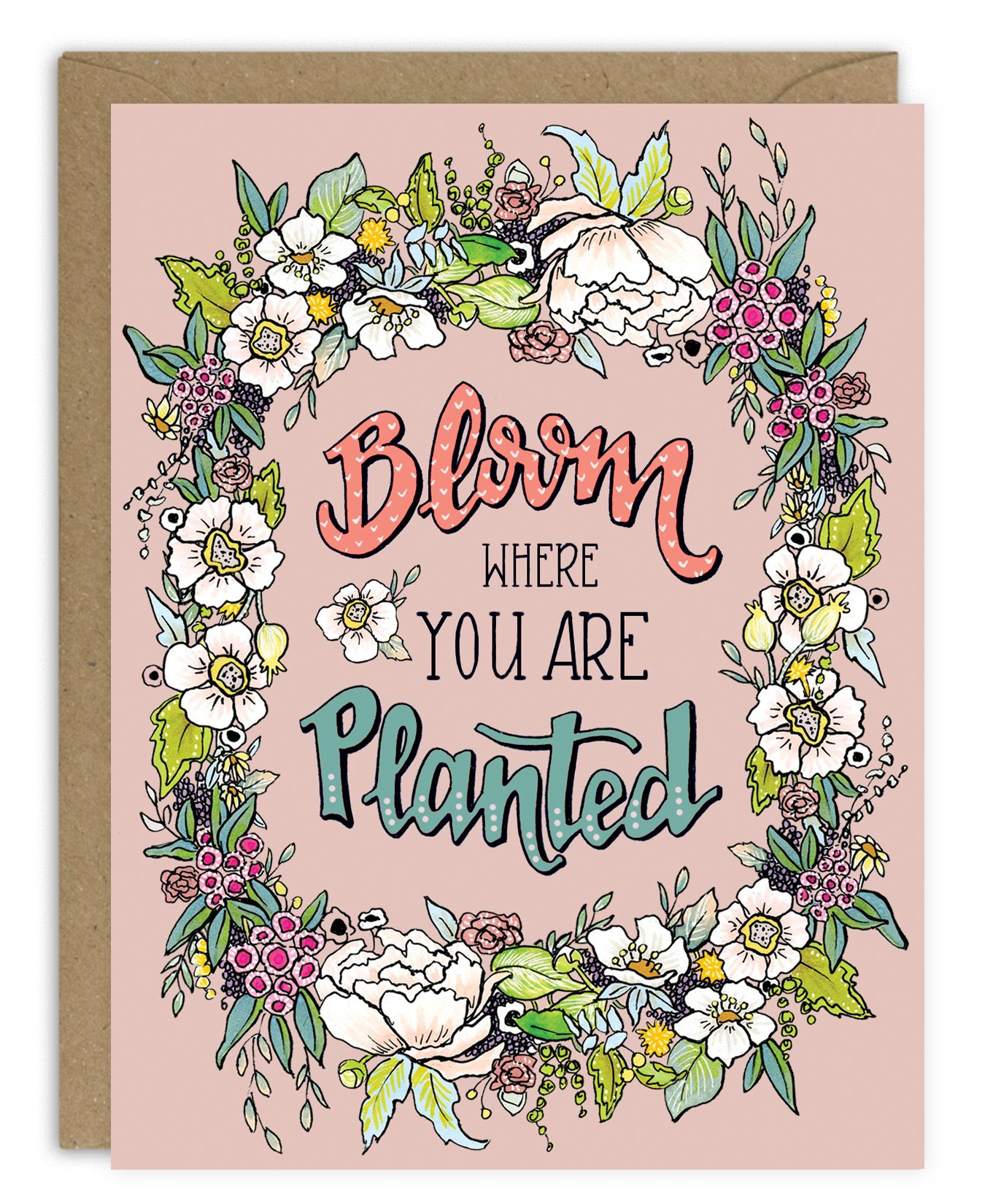 Clipart of bloom where you are planted royalty free stock Bloom Where You are Planted Card royalty free stock