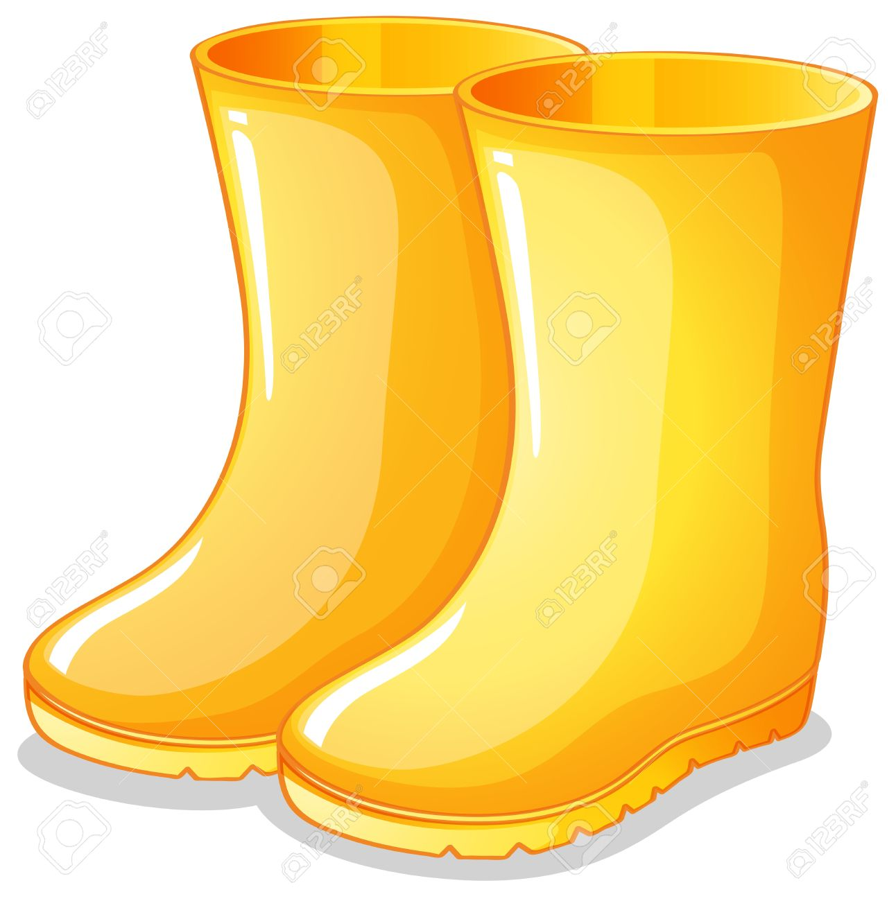 Yellow rain boot clipart png free library Boots clipart 5 » Clipart Station png free library