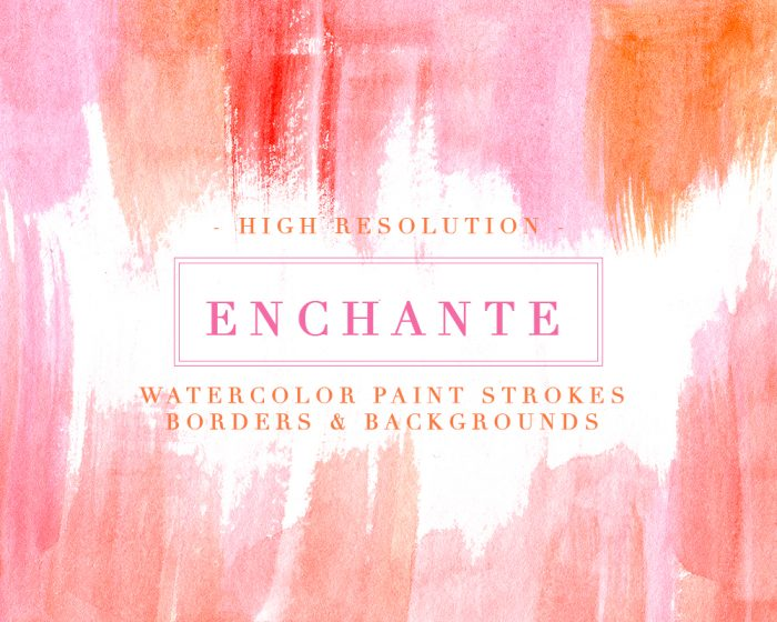 Clipart of borders and backgrounds clipart freeuse stock Enchante | Watercolor Paint Strokes Splash Clipart Background, 5x7 Card clipart freeuse stock