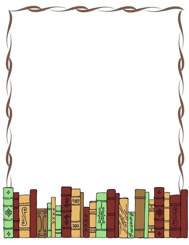 Clipart of borders and backgrounds picture free library Book Border Clip Art Writingpaper Clip Art Misc Library Clipart ... picture free library