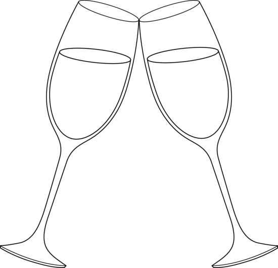 Wedding champagne glass clipart image royalty free download free clip art for wedding glass | Champagne Glasses Line Art - Free ... image royalty free download
