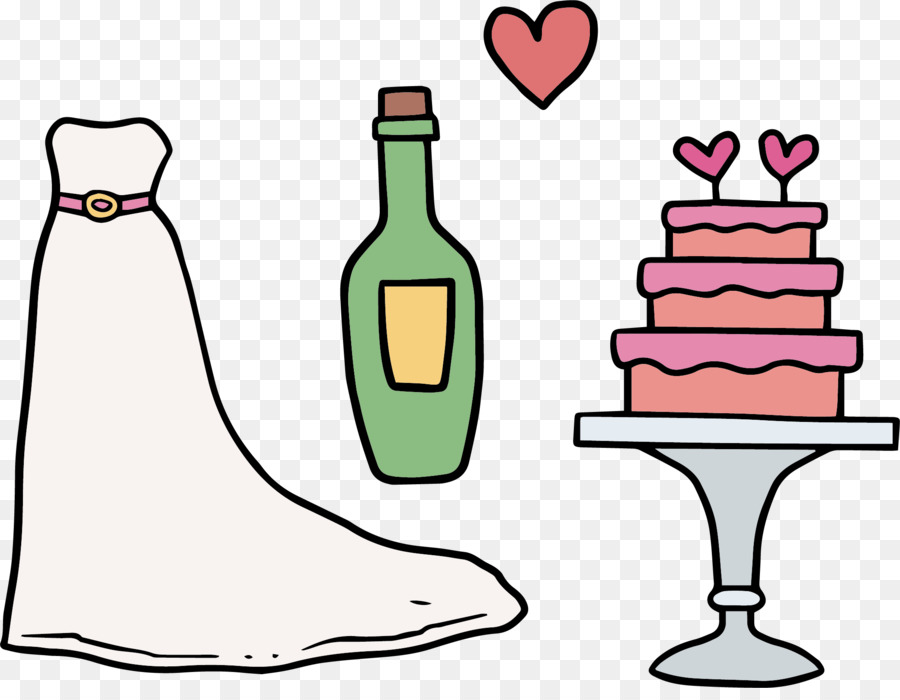 Clipart of bride dress for wine glasses svg black and white library Wedding Bride png download - 2081*1590 - Free Transparent Dress png ... svg black and white library