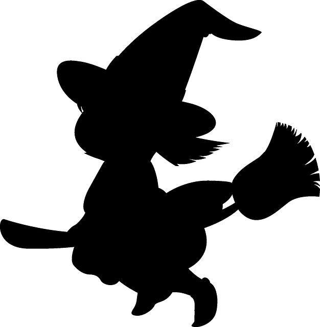 Clipart of bruja in black and white jpg black and white stock Imagen gratis en Pixabay - Niña, Bruja, Halloween, Escoba ... jpg black and white stock