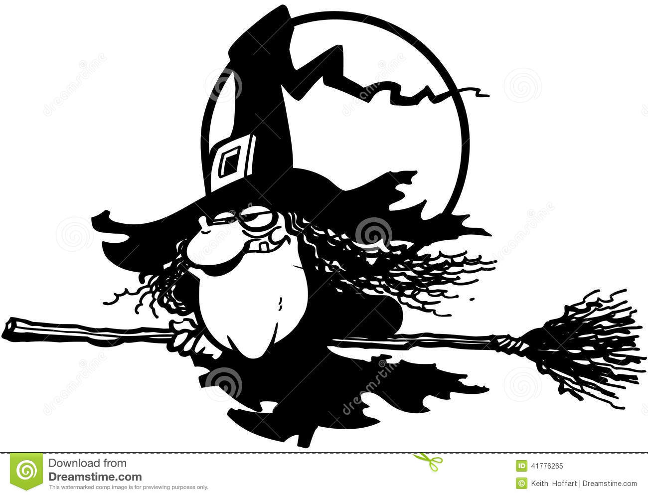 Clipart of bruja in black and white picture royalty free library Vector Clipart Del Diseño De La Luna Del #470021 - Clipartimage.com picture royalty free library