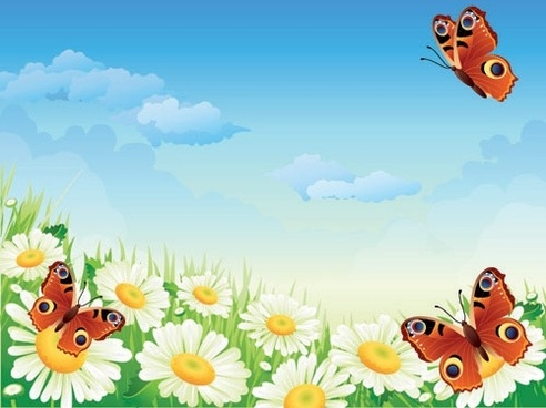 Free clipart of flowers and butterflies svg freeuse stock Butterflies and flowers clipart free vector download (14,804 Free ... svg freeuse stock