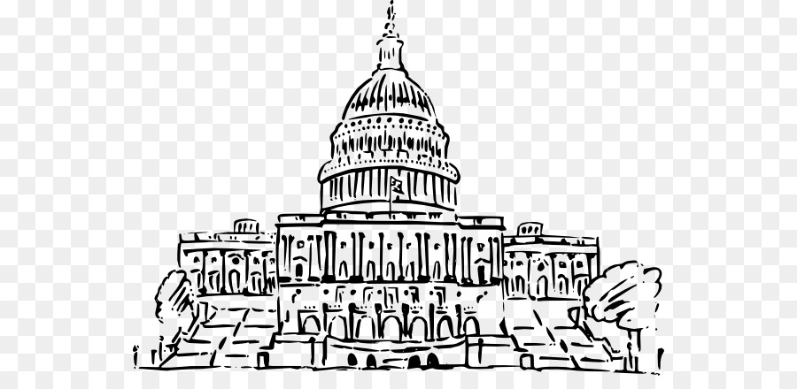 Captial building clipart black and white clipart transparent stock Congress Background png download - 600*425 - Free Transparent United ... clipart transparent stock