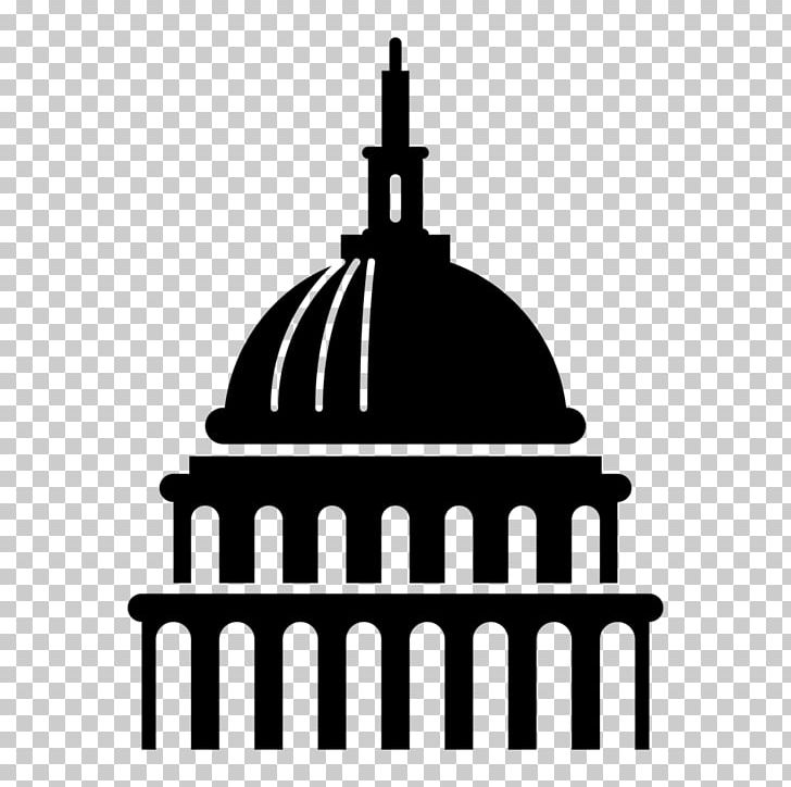 Captial building clipart black and white png royalty free United States Capitol Dome United States Congress Building PNG ... png royalty free