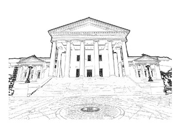 Captial building clipart black and white vector Virginia State Capitol Building Clip Art vector