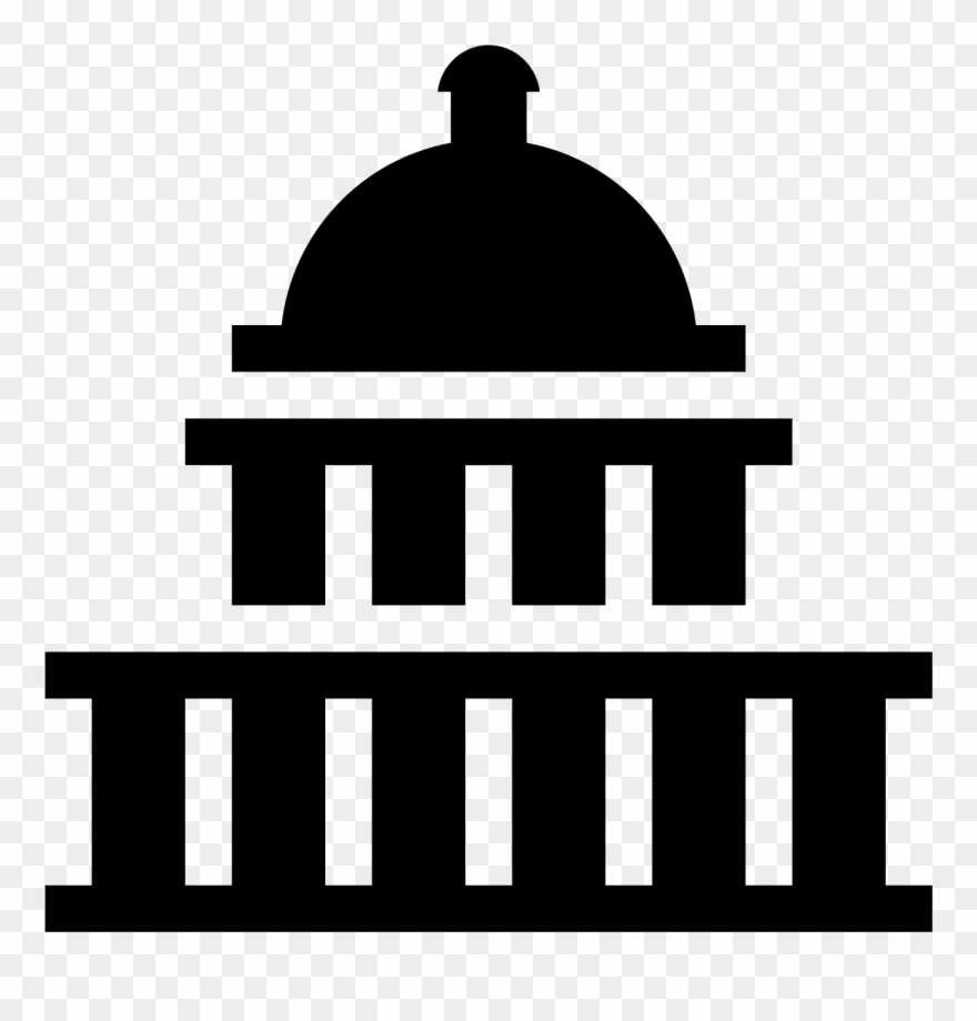 Captial building clipart black and white banner transparent Us Capitol Icon - Capitol Building Icon Vector Clipart (#859938 ... banner transparent