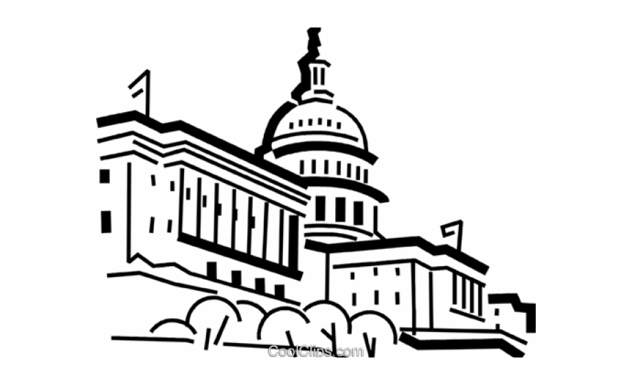 Captial building clipart black and white graphic transparent Us Capitol Building Easy Drawing - Clip Art Library graphic transparent