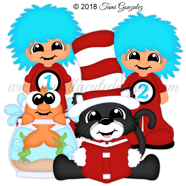Clipart of cat and the hat characters clip art freeuse download Characters clip art freeuse download