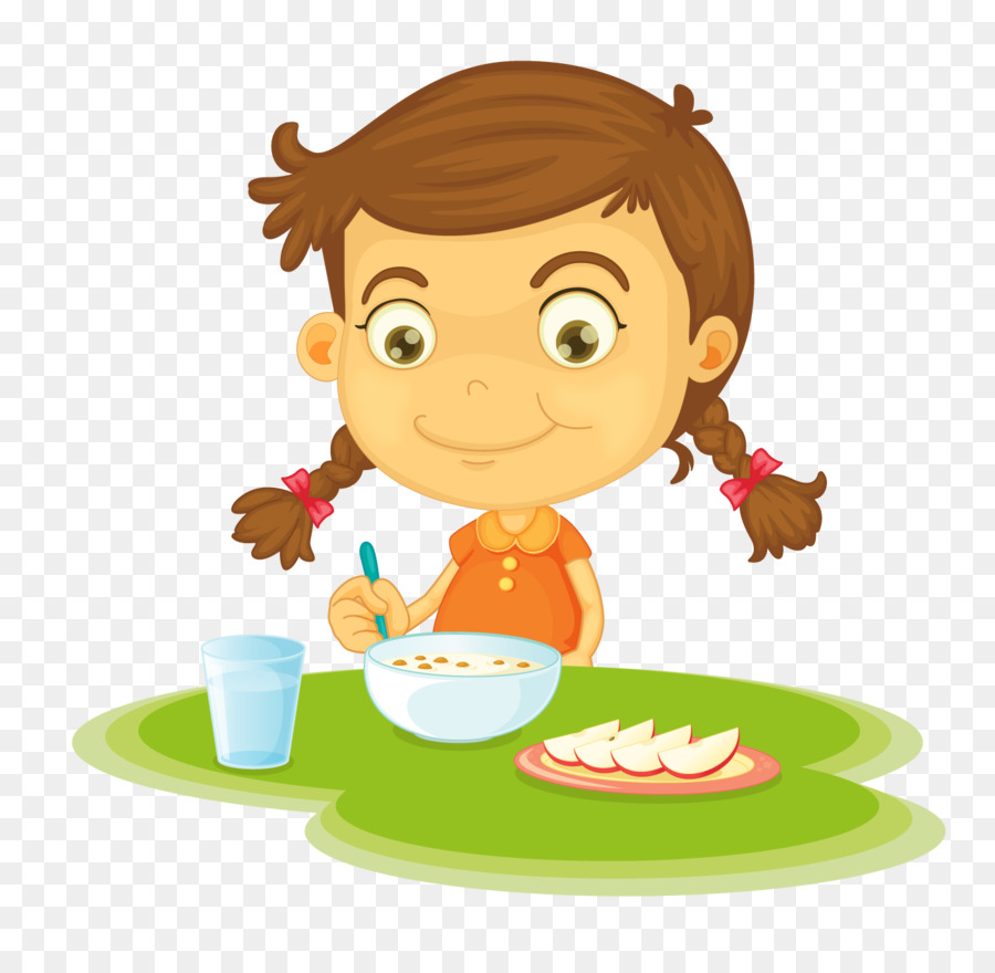 Clipart of child eating a bowl of cereal clip art free stock Kids Cartoon png download - 1415*1353 - Free Transparent Breakfast ... clip art free stock