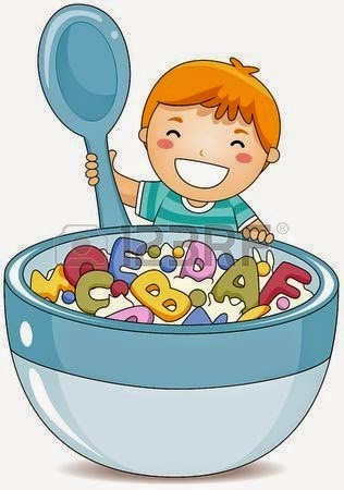 Clipart of child eating a bowl of cereal vector freeuse download Bear Eating From Cereal Bowl Clipart - Free Clipart vector freeuse download