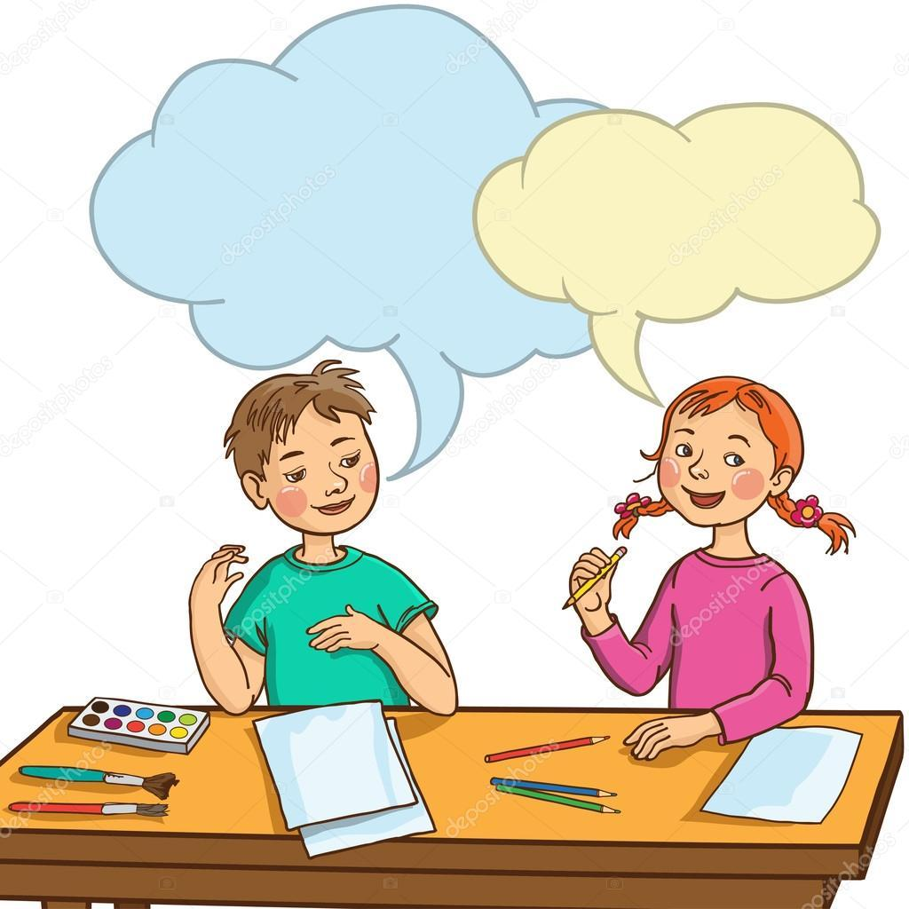 Clipart of children talking picture royalty free library Children talking in class clipart 1 » Clipart Portal picture royalty free library
