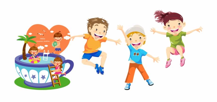 Fun for kids clipart clip art free stock Child Play Jumping Illustration - English Fun Kids Free PNG Images ... clip art free stock