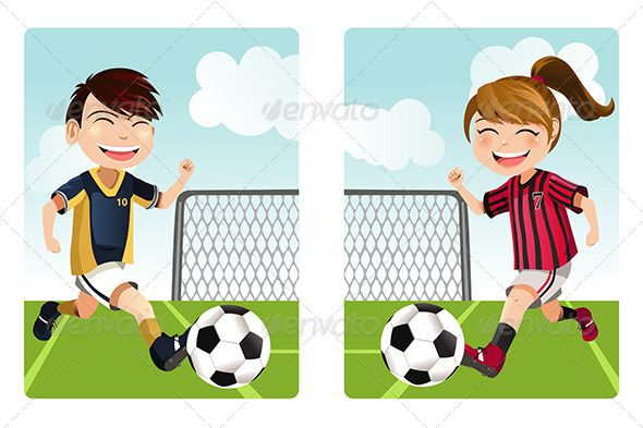 Youth soccer clipart banner image freeuse library Kids Playing Soccer - Sports/Activity Conceptual | Soccer in 2019 ... image freeuse library