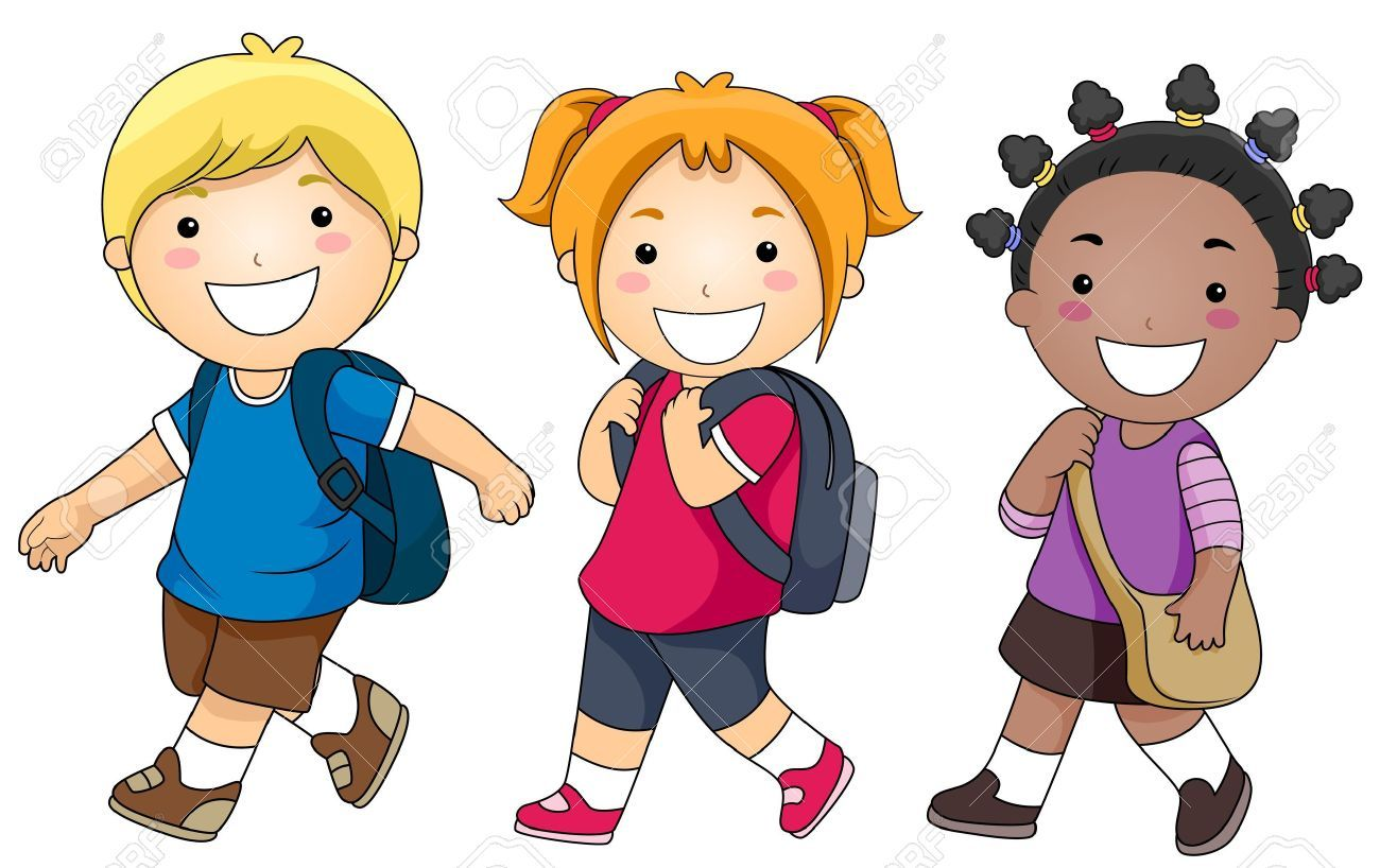 Clipart of children walking image royalty free stock Child walking to school clipart 1 » Clipart Portal image royalty free stock