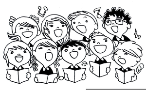 Clipart of a choir black and white Free Clipart Choir Singers | Free Images at Clker.com - vector clip ... black and white