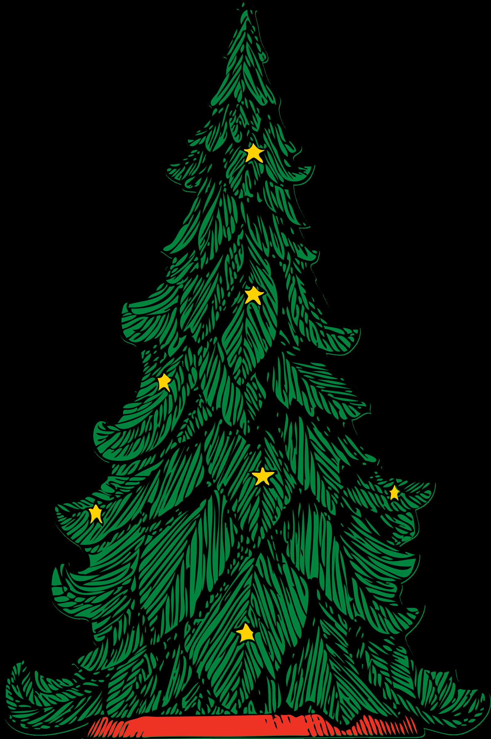 Plain christmas tree clipart banner library stock Clipart - Christmas tree banner library stock
